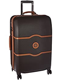 Chatelet Hard+ Hardside Medium Checked Spinner Suitcase, Chocolate Brown, 24-Inch