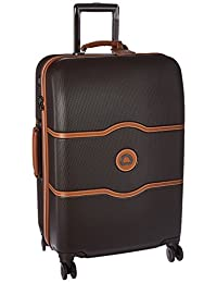 Delsey Luggage Chatelet Hard+ 24 4 Wheel Spinner, Chocolate