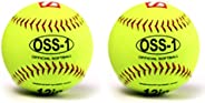 "Barnett OSS-1 Practice Baseball, Softball Ball, Size 12"", Yellow, 2 P"