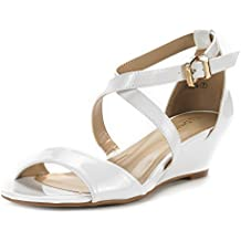 DREAM PAIRS Women's Jones Low Wedge Pump Sandals