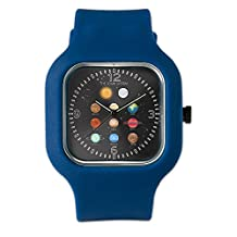 Navy Blue Fashion Sport Watch Solar System Sun Moon and Planets