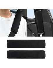 2Pcs Car Seat Belt Pads HADEEONG Shoulder Seatbelt Pads Cover Safety Belt Strap Shoulder Pad for Car Backpacks Laptop Camera Golf Bags(Black)