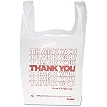 """Inteplast Group THW1VAL""""Thank You"""" Handled T-Shirt Bags, 11 1/2 x 21, Polyethylene, White (Case of 900)"""