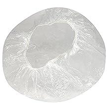 erioctry 100 PCS Clear Plastic Waterproof Disposable Shower Caps Bath Shower Hair Caps