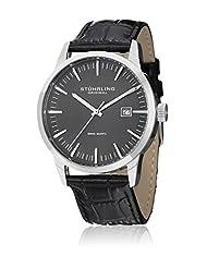 Stuhrling Original Men's 555A.02 Classic Ascot II  Swiss Quartz Date Grey Dial Strap Set Watch