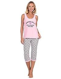 Body Candy Women's Lightweight Silky Soft Tank Top and Capri Pajama Set…