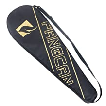 FANGCAN Waterproof Badminton Racket Cover Black