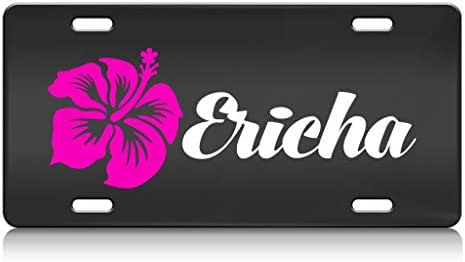 Custom Brother - Ericha Female Name Stainless Steel Metal License Plate Bl
