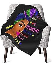 Black Woman Matter Africa Black Power Warm Cozy Throw Blankets Air Conditioning for Baby Newborn Toddler Crib Stroller
