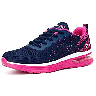Womens Sneakers Lightweight Breathable Running Shoes Navy Rose, 6