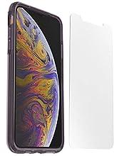 Otterbox Pack Clear Case, Funda Anti Caídas Fina, Color Transparente/Violeta y Protector de Pantalla Cristal Templado Performance Glass para iPhone X/XS
