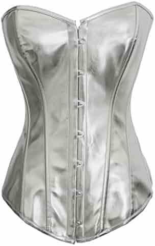 a9e32e1ff63c8 Y Fashion Womens Sexy Steampunk Gothic Faux Leather Boned Corset Bustier