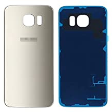 Galaxy S6 Edge Plus Back Case Glass, Original OEM Battery Door Back Cover Rear Glass Panel with Adhesive Sticker Replacement for Samsung Galaxy S6 Edge Plus(Gold)