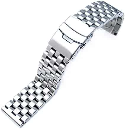 20mm Brushed Engineer Solid Link 316l Stainless Steel Watch Bracelet Band