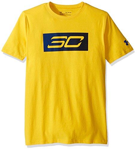 Under Armour Boys Sc30 Logo Short Sleeve Tee, Maize