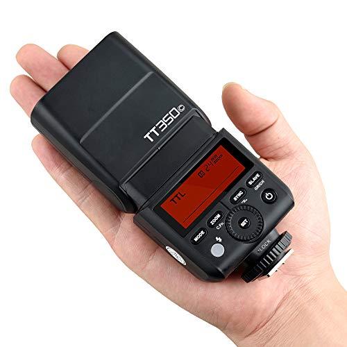 Godox TT350C TTL Flash Camera Flash Speedlite, 2.4G HSS 1/8000s TTL GN36 Electronic Flash for Canon Mirrorless Digital Camera
