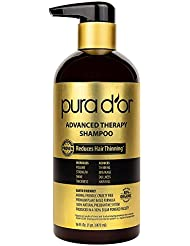 PURA D'OR Advanced Therapy Shampoo Reduces Hair Thinning...