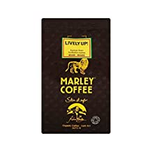 Marley Coffee Organic Espresso Coffee Beans - Lively Up 227g - Pack of 4