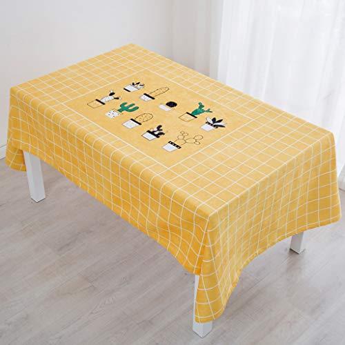E 140200cm Polyester Rectangulaire Lavable, Couvre-table Uni, Adapté à Un Usage Intérieur Et Extérieur (Couleur   E, Taille   140  200cm)