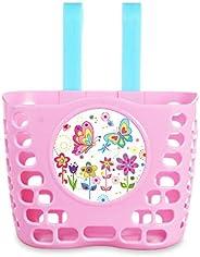 MINI-FACTORY Bike Basket for Girls, Pink Cute Princess Crown/Butterflies/Lovely Unicorn/Mermaid Bicycle Front
