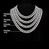 FEEL STYLE Mens Cuban Link Chain Gold Silver Bling