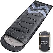 Forbidden Road Backpacking Sleeping Bag - 3 Season Warm & Cool Weather, Portable Single Sleep Bag Lightwei
