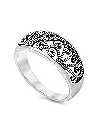 925 Sterling Silver Filigree Ring