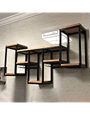 Industriële Retro Wandmontage Ijzeren Pijp Plank Opbergrek, Metalen Zwevende Planken Voor Wand Wijnrek, Voor Keuken Bar Restaurant, Eenvoudig Te Installeren