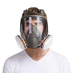 15 in 1 Gas Mask Full Face Facepiece Respirator Same for Gas Respirator with Carbon Filters Painting