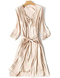 e933033405 Lostryy Ladies Nightdress Pajamas Long Robe Bathrobe Thin Silk Home Service