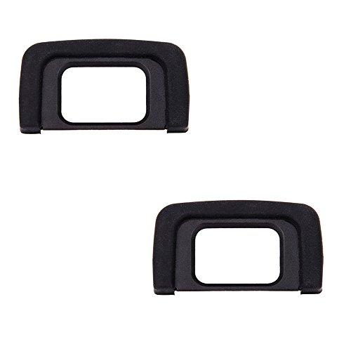 (2-Pack) JJC Eyecup Eyepiece Eye Cup Viewfinder for Nikon D3400 D3500 D3200 D5100 D5200 D5300 D5500 D5600 D5000 D3300 D3100 D3000, Replaces Nikon DK-25 Eyecup Eyepiece