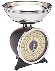 Kitchen Craft Classic Collection Heavy-Duty Scales with Detachable Pan - Metric & Imperial - Sturdy Base - 2kg Capacity