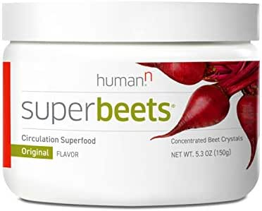 HumanN SuperBeets Circulation Superfood Concentrated Beet Powder Nitric Oxide Boosting Supplement (Original Apple Flavor, 5.3-Ounce).