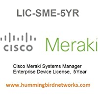Cisco Meraki Systems Manager Enterprise Device License, 5 Years, Electronic Delivery