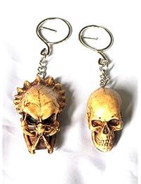 Berserker Predator Vs Human AVP Skull Skeleton Keychain Ring