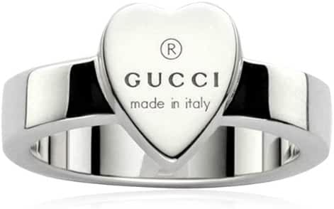 Gucci Silver Ring Trademark 5(USA) L (UK)