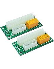 Geroosaty 2-pack dubbel PSU multiple power strömförsörjning, Add2Psu ATX 24-stift till molex 4-stifts anslutning för BTC Miner