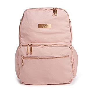 JuJuBe Zealous Backpack | Blush | Chromatics | Lightweight, Travel-Friendly, Stylish Diaper Bag, Multi Functional Backpack Purse for Kids and Adults, Casual Daypack | Changing Pad Included