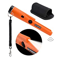 YEESON Pinpointer Metal Detector, Water Resistant Metal Detectors with 360° Scanning Holster Treasure Hunting Tool Accessories Buzzer Vibration Automatic Tuning