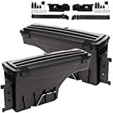 2Pcs Lockable Truck Bed Storage Toolbox Compatible for Toyota Tundra 2007-2020 Swing Case Left+Right Sides Tool Box