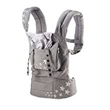 Deercon Breathable Ergonomic Adjustable Wrap Slings Newborn Infant Baby Carrier Backpack(Grey)