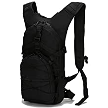 Outdoor Cycling Backpack for Women Camouflage waterproof Oxford Fabric Rucksack 15L Lightweight Shoulder Bag Portable Tactical Backpack - Black