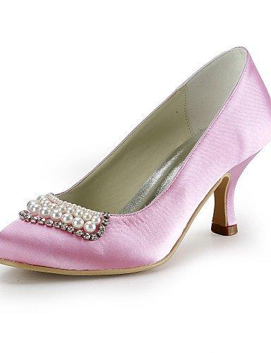 BGYHU GGX Damen Schuhe Seide Stiletto Heel Heels Schuhe Party Heels Hochzeit Party Schuhe & Abend Kleid Blau Rot Weiß Beige 8b622d