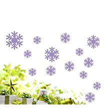 Compia DIY Fresh Wall Sticker Frozen Snow Flakes Vinyl Art Wall Quote Decal Sticker Removable(Purple)