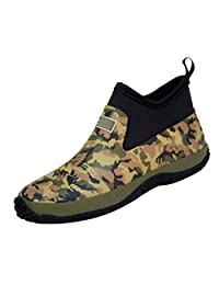 SFCSFLY Womens and Mens Warm Round Toe Slip Resistant Short Rubber Rain Boots Shoes