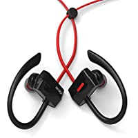 iClever Bluetooth Sports Headphones Sweatproof, On-Ear Earbuds Wireless for Running, Exercise, Workout, Gym (7 Hours Play Time) (Red)