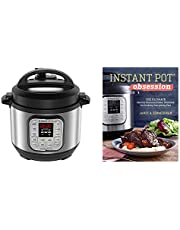 Instant Pot Duo Mini 3qt 7-in-1 Multi-Use Programmable Pressure Cooker, Rice Cooker 12 Cups Rice (Cooked) and Cooking FastCookbook