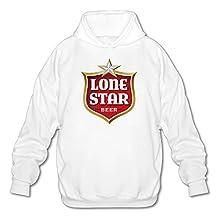 Men's Lone Star Beer Hoodie White