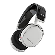 SteelSeries Arctis 7 Lag-Free Wireless Gaming Headset with DTS Headphone:X 7.1 Surround for PC, PlayStation 4, VR, Mac and Wired for Xbox One, Android and iOS - White
