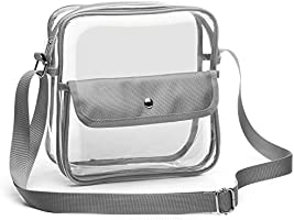 iSPECLE Clear Purse, Clear Stadium Bag Approved for NFL, PGA, NCAA, Casino, Concert, Adjustable Shoulder Strap for Women Men